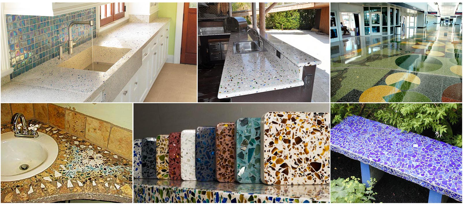 Environment Body Color Crushed Glass For Terrazzo