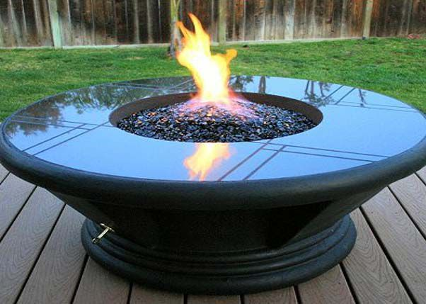 Highly Reflective 1/4 Tempered Fire Glass for Fire Pits & Fireplaces