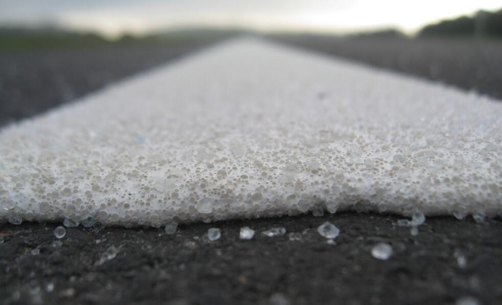 Dual-Coated road marking glass bead