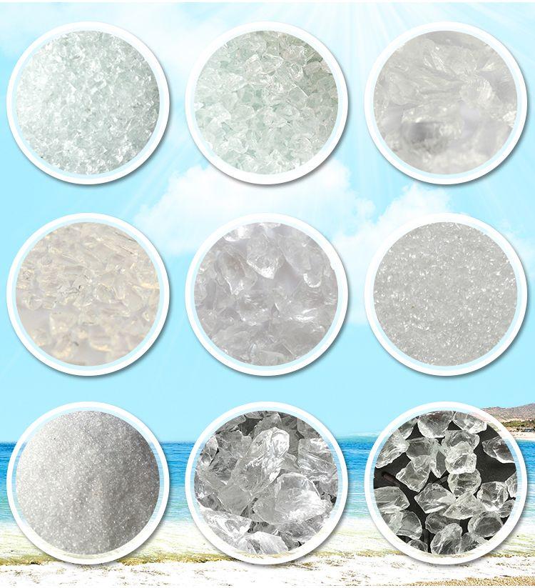 Pool filter media glass sands