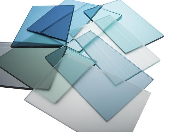 Tinted tempered glass sheets